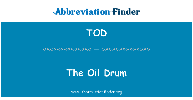TOD: The Oil Drum