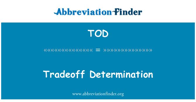 TOD: Tradeoff Determination