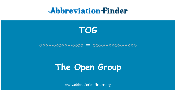 TOG: The Open Group