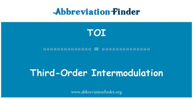 TOI: Third-Order Intermodulation