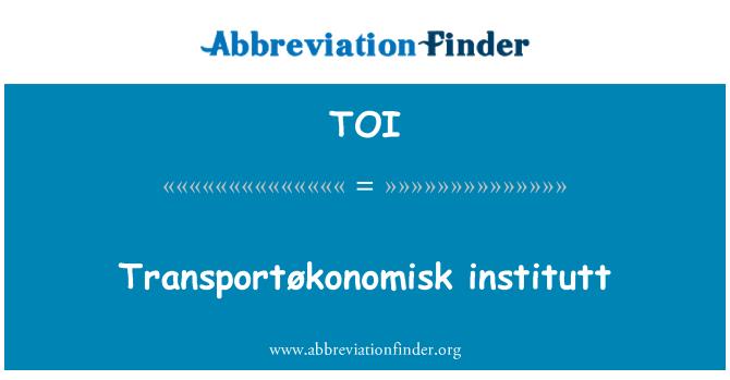 TOI: Transportøkonomisk institutt