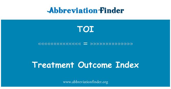 TOI: Treatment Outcome Index