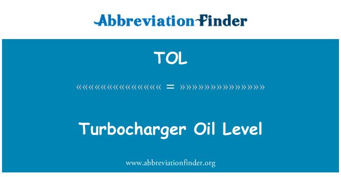 TOL: Turbocharger Oil Level