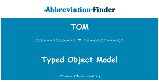 TOM: Typed Object Model