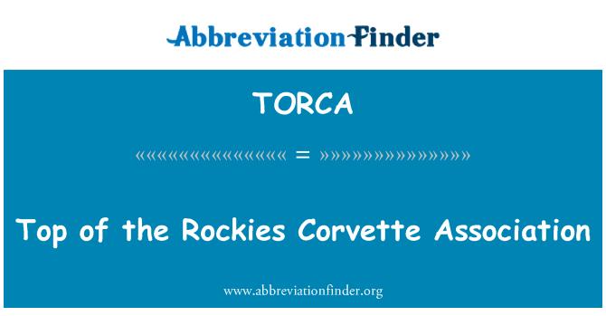 TORCA: Top of the Rockies Corvette Association