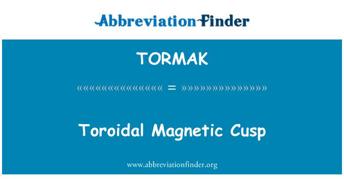 TORMAK: Toroidal Magnetic Cusp