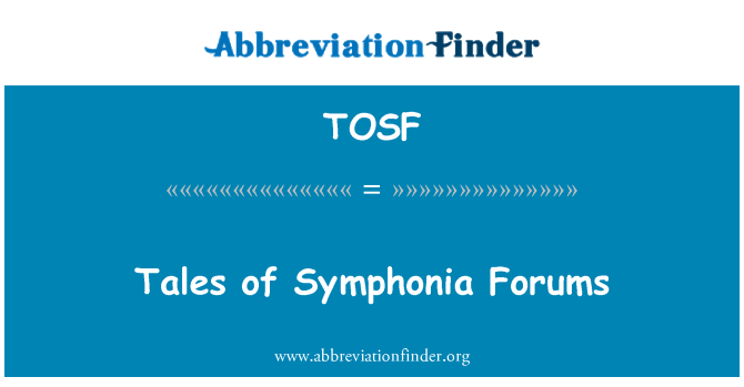 TOSF: Tales of Symphonia Forums