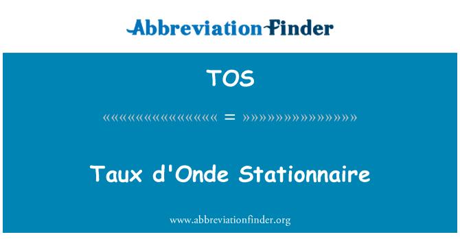 TOS: Taux d'Onde Stationnaire