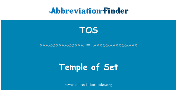 TOS: Temple of Set