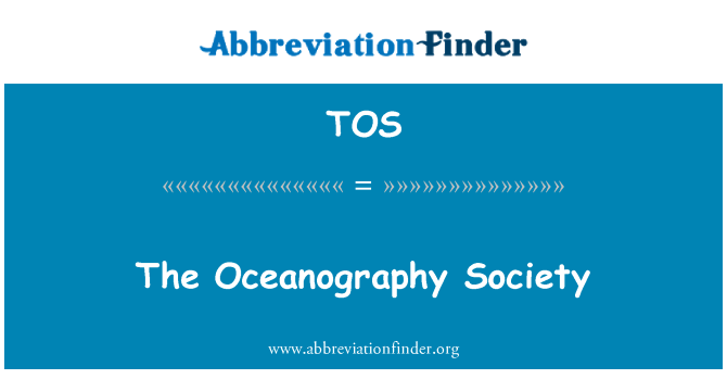 TOS: The Oceanography Society
