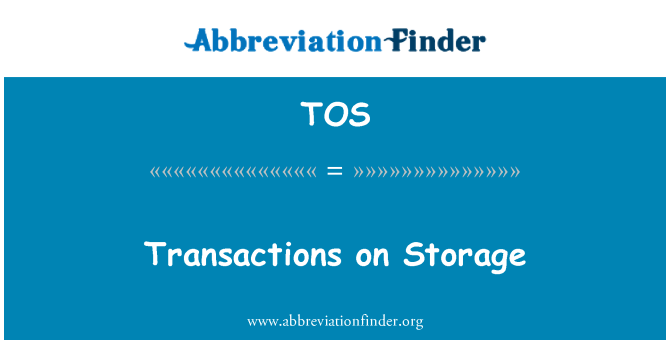 TOS: Transactions on Storage