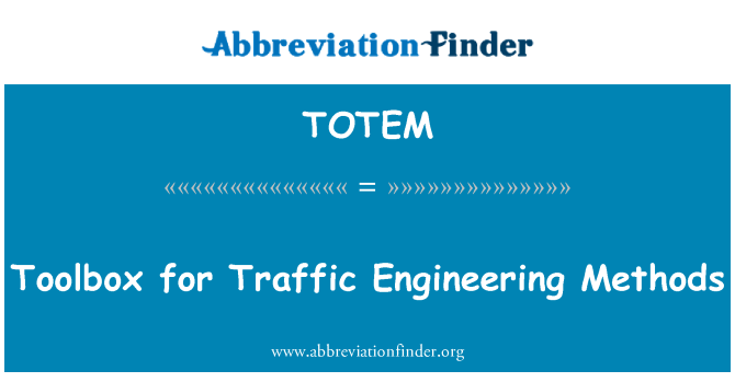 TOTEM: Toolbox for Traffic Engineering Methods