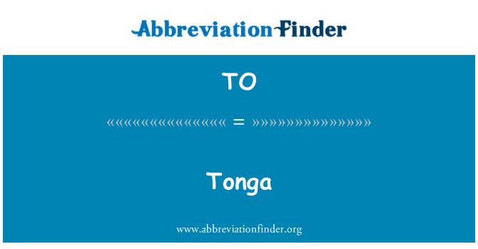TO: Tonga