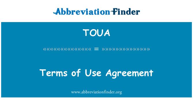 TOUA: Términos del acuerdo de uso