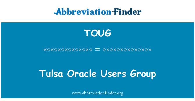 TOUG: 塔尔萨 Oracle 用户组