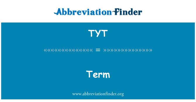 TYT: Istilah