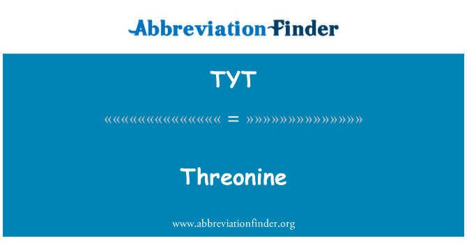 TYT: Threonine