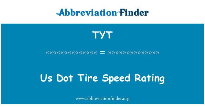 TYT: 我们点轮胎的速度等级