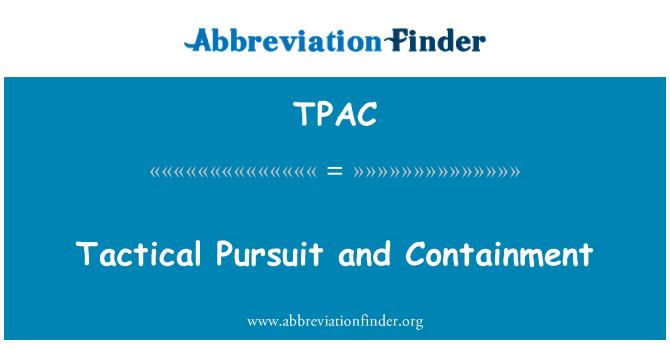 TPAC: Taktik Arayışı ve koruma