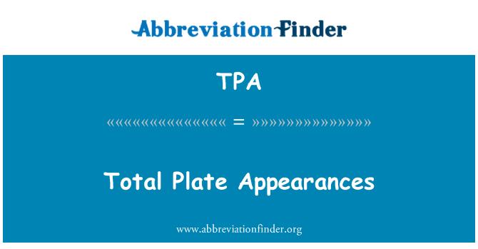 TPA: Total Plate Appearances