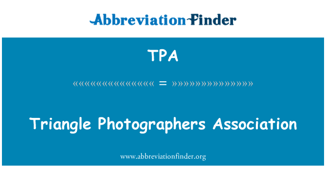 TPA: Triangle Photographers Association