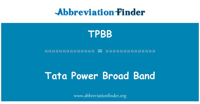 TPBB: Tata Power Broad Band