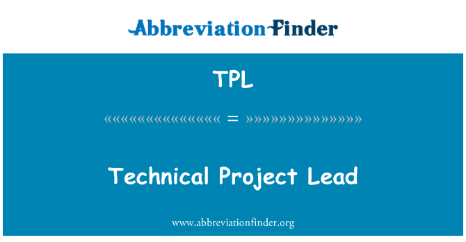 TPL: Technical Project Lead