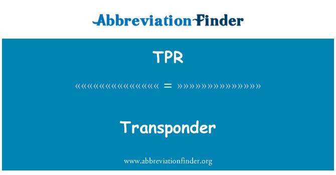 TPR: Transponder