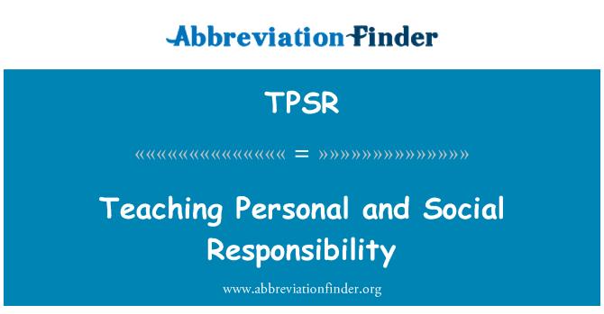 TPSR: Enseñando responsabilidad Personal y Social