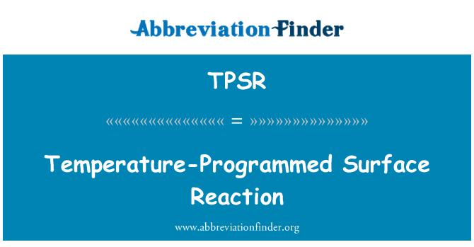 TPSR: 程序升温表面反应