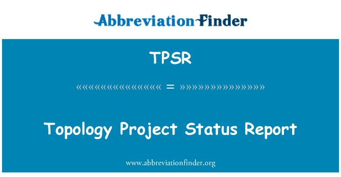 TPSR: Informe de estado de proyecto de topología