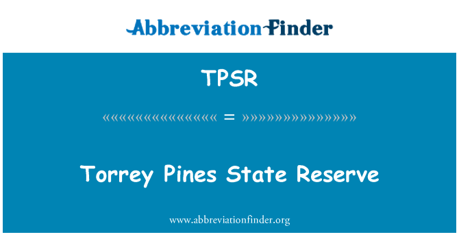 TPSR: Torrey Pines State Reserve