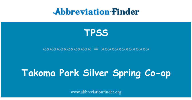 TPSS: Takoma Park Silver Spring Co-op