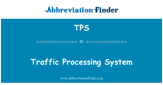 TPS: Traffic Processing System