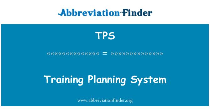 TPS: Training Planning System