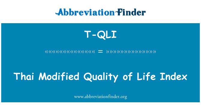 T-QLI: Thai Modified Quality of Life Index