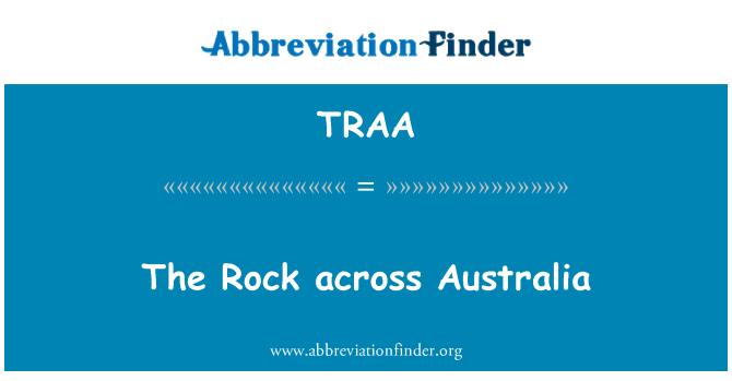 TRAA: La roca en Australia