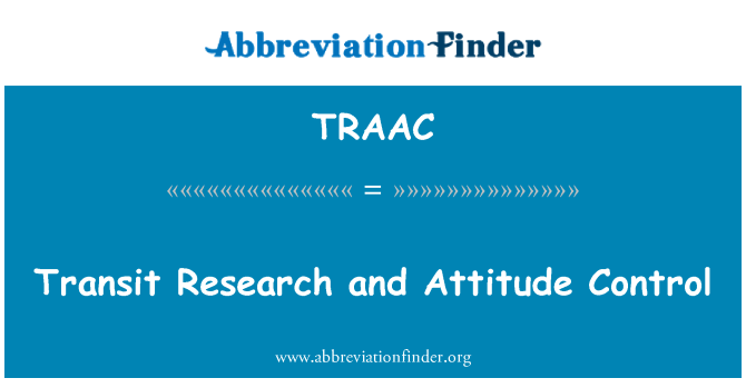 TRAAC: Transit Research and Attitude Control