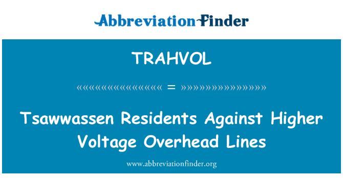TRAHVOL: Tsawwassen Residents Against Higher Voltage Overhead Lines