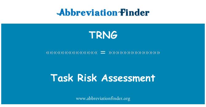TRNG: Penilaian risiko tugas