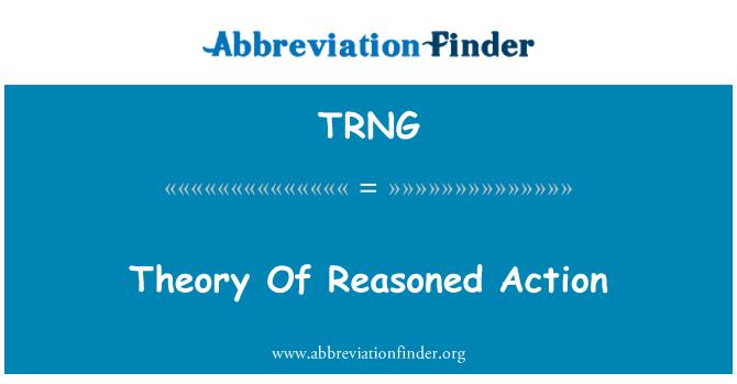 TRNG: Teori aksi bersebab