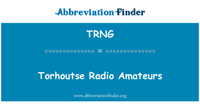 TRNG: Amatur Torhoutse Radio