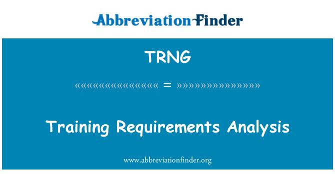 TRNG: Analisis keperluan latihan