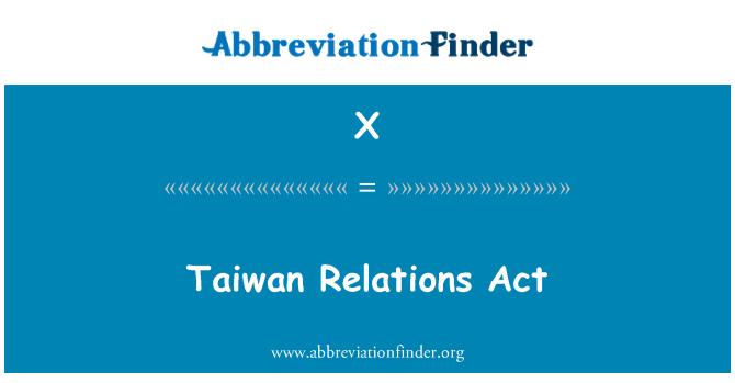 X: Akta hubungan Taiwan