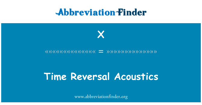 X: Masa pembalikan akustik