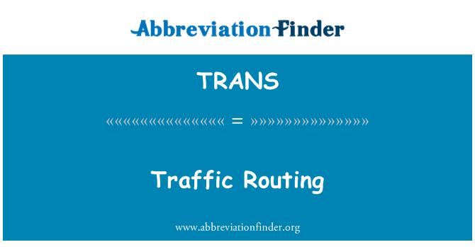 TRANS: Laluan trafik