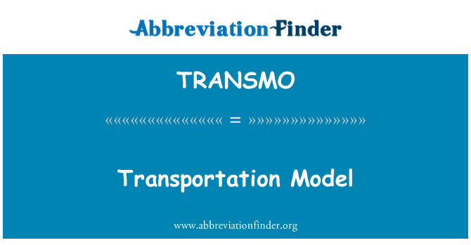 TRANSMO: Transportation Model