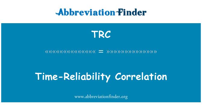 TRC: Time-Reliability Correlation
