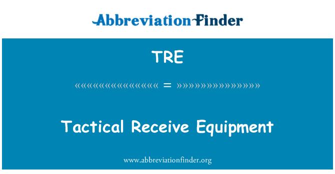 TRE: Tactical Receive Equipment