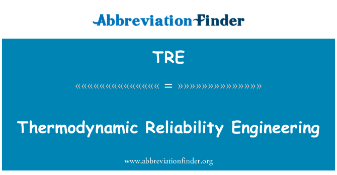 TRE: Thermodynamic Reliability Engineering